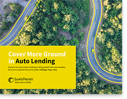 Cover More Ground in Auto Lending eBook | LexisNexis Risk Solutions